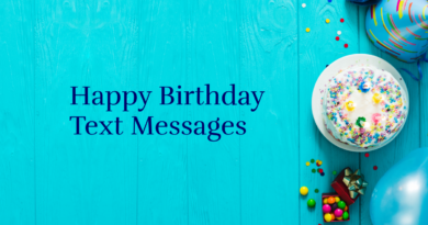Happy Birthday Text Messages