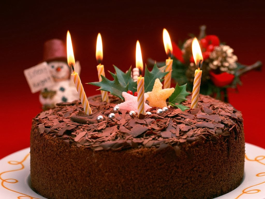 Happy Birthday Chocolate cake with candles, Hindi Birthday Wishes