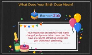 What does you birth date mean Born on 21st of the month